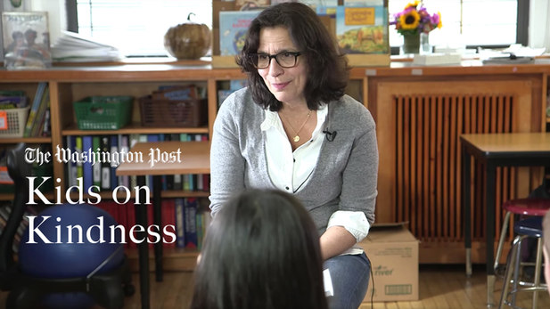 R.J. Palacio, the author of Wonder, visits a school in Brooklyn to ask kids what kindness means to them.
