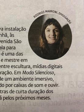 """26.08.2019 Zero Hora - """"Arte para ouvir"""""""