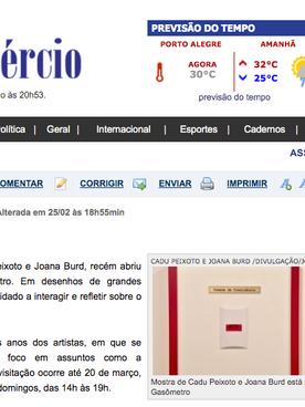 "25.02.2016 Jornal do Comércio ""Arte na Sociedade"""