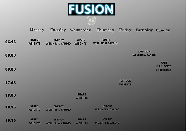 FUSION 45 TIMETABLE STARTING MARCH 9TH.p
