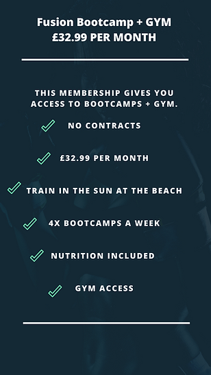 FUSION BOOTCAMP + GYM MEMBERHSIP GRAPHIC