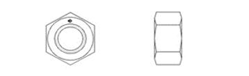 DIN EN ISO 4032 (DIN 934, Style 1)