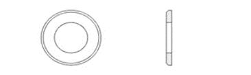 DIN EN ISO 7090 (DIN 125, Part B)