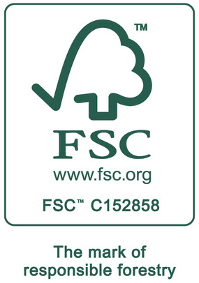 獲頒Forest Stewardship Council™(森林管理委員會)產銷監管鏈認證(CoC)(FSC license code: FSC-C152858)