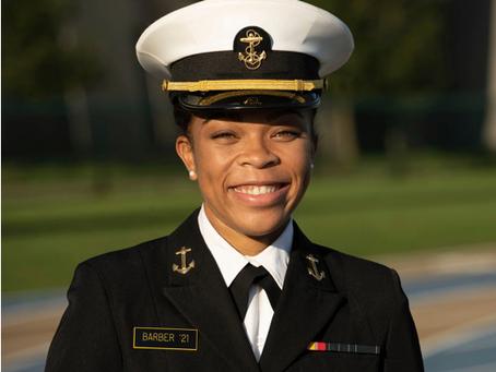 Congratulations Midshipman 1st Class Barber!