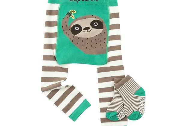 Grip Crawler Legging & Sock Set - Silas the Sloth