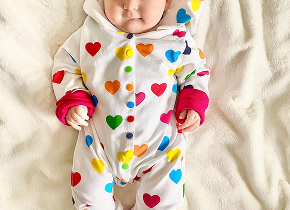Little Sprout Grow with Me Heart Romper