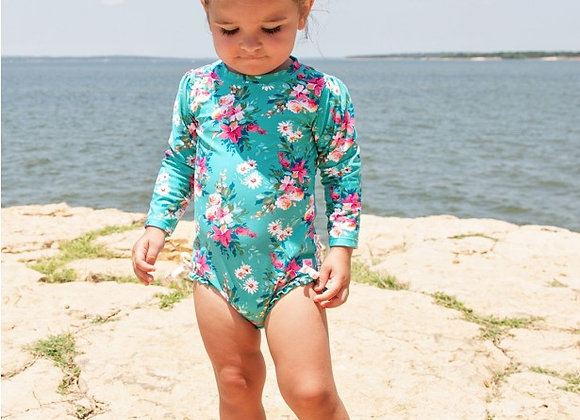 Fancy Me Floral One Piece Rash Guard ($2 Lettermail Eligible