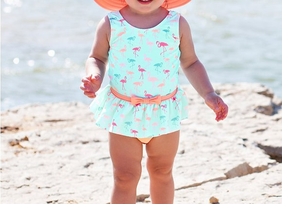 Flamingo Beach Skirted One Piece ($2 Lettermail Eligible)