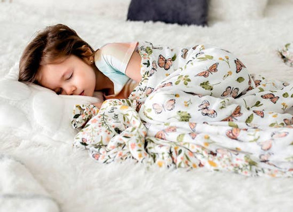 Muslin Double Sided Snuggle Blanket