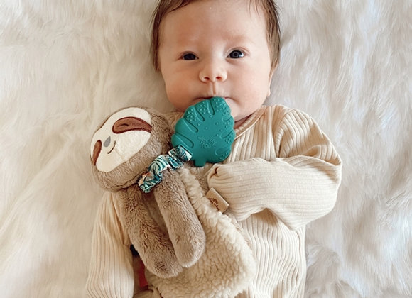copy of Itzy Lovey - Sloth Plush with Silicon Teether Toy