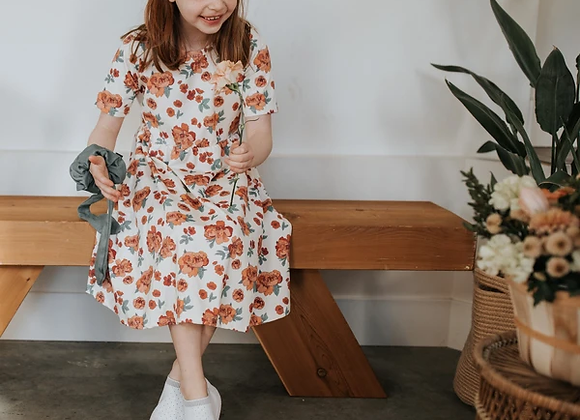 Daphne Dress Peonies - Little & Lively