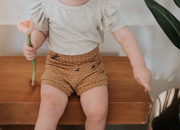 High Waisted Honeycomb Shorties - Little & Lively