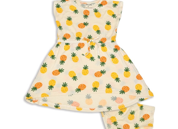 Bamboo Tie Hi-Low Dress with Bloomer