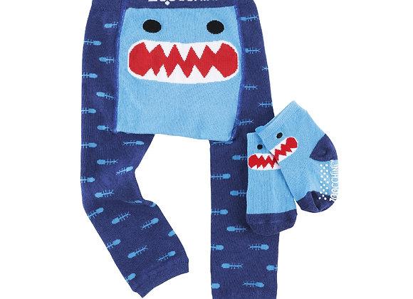 Grip Crawler Legging & Sock Set - Sherman the Shark