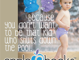 """Avoid a """"Code Brown"""" with Cloth Swim Diapers!"""