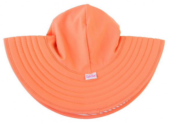 Coral Stripe Reversible Swim Hat