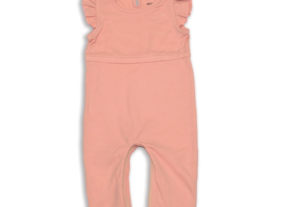 Organic Cotton Flutter Sleeve Coverall