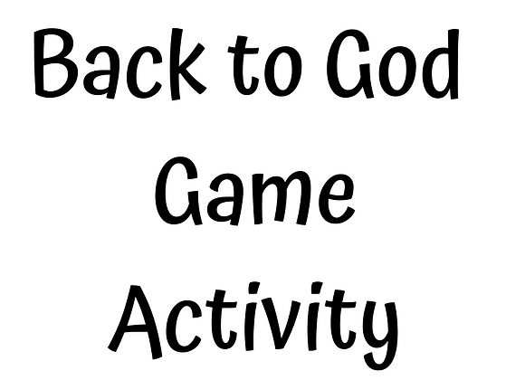 The Back to God Game Activity Book