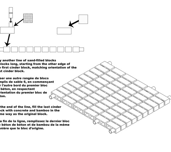 Instructions for building base of cistern