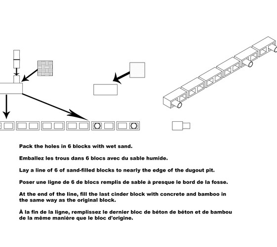 Building instructions for water cistern
