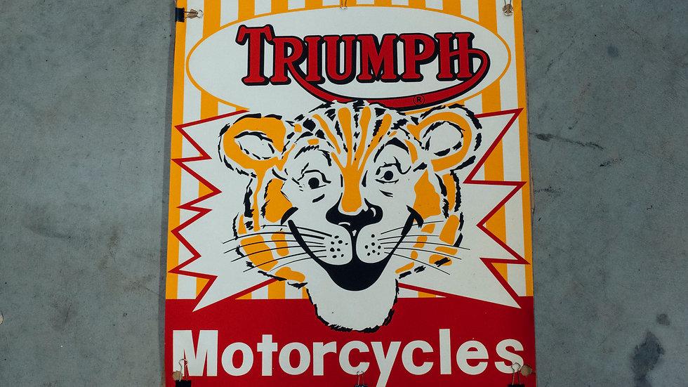Original Triumph Dealer Poster