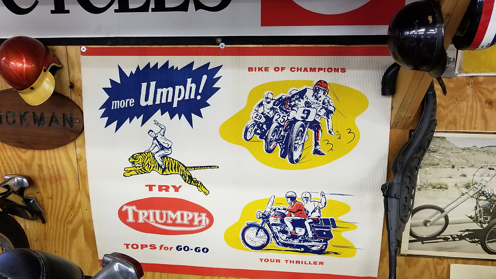 Triumph Wall Display