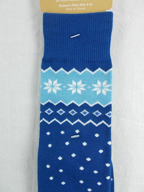 Blue Foot Traffic Women's Knee High Socks Nordic Design