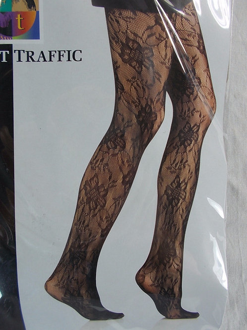 Foot Traffic Sheer Textured Black Tights