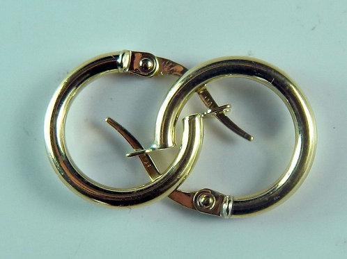 "New 1/2"" Hoop 0.7 grams 10K Italian Gold Earrings"