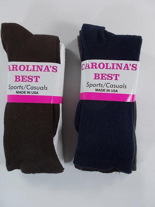 Carolina's Best Women's Cotton Trouser Socks - SET OF 3