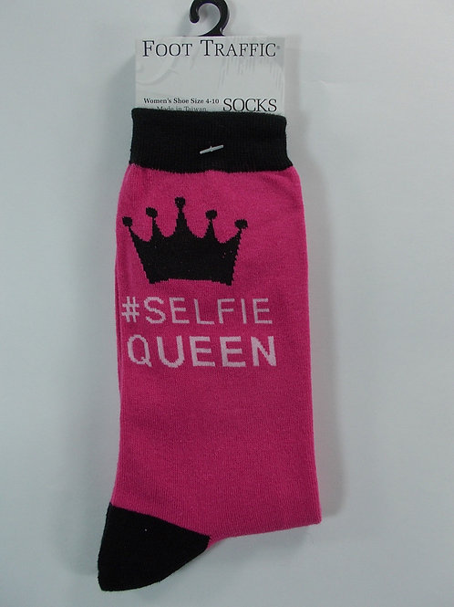 "Women's Foot Traffic Novelty Socks ""Selfie Queen"""
