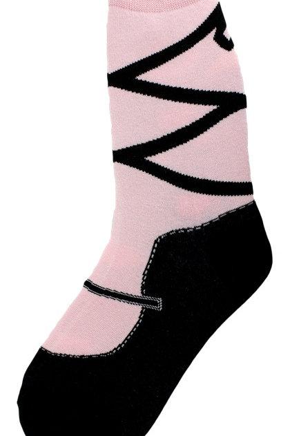 Foot Traffic Ballet Slipper Socks, Ballerina