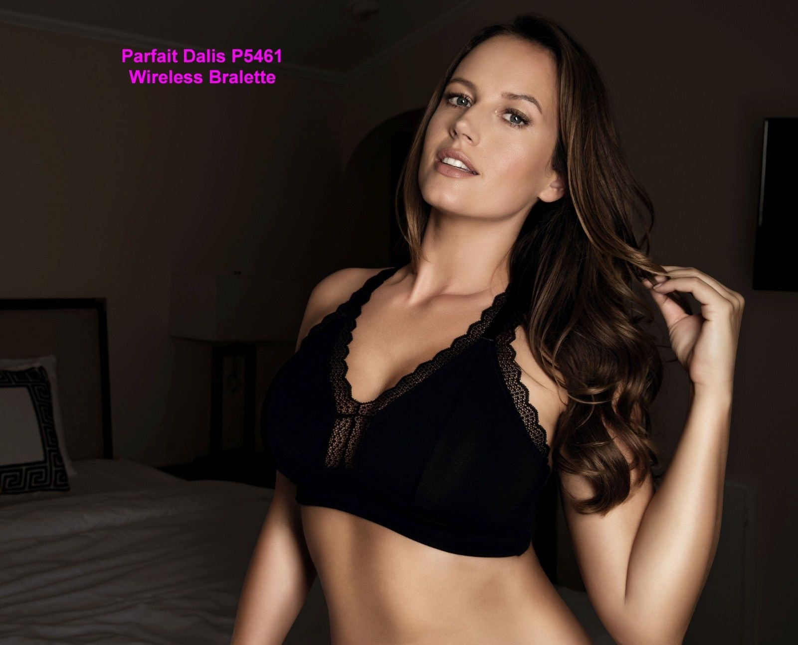 IN STOCK NWT Parfait Dalis P5641 Modal Wirefree Bralette Pink Blush