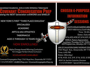 Chosen 4-Purpose Information Sessions – April–May in Brooklyn, Queens, Long Island.