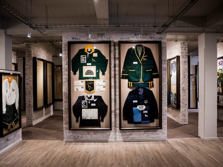 The world's largest private rugby collection is in Stellenbosch.