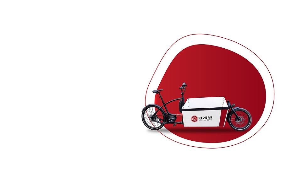 illustration vélo cargo de livraison - Rider Social Club
