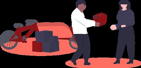illustration livraison par vélo cargo éthique