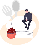 illustration livraison food