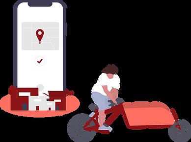 illustration l'activité cyclo-logisitque