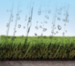 artificial grass drainage photo