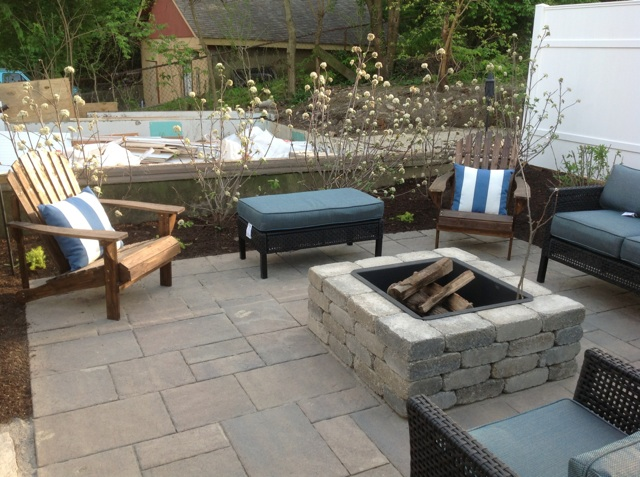 Fire Pit and paver patio near Dayton, Ohio_