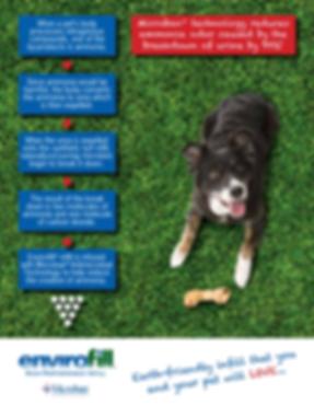antimicrobia infill for pet run artificial grass