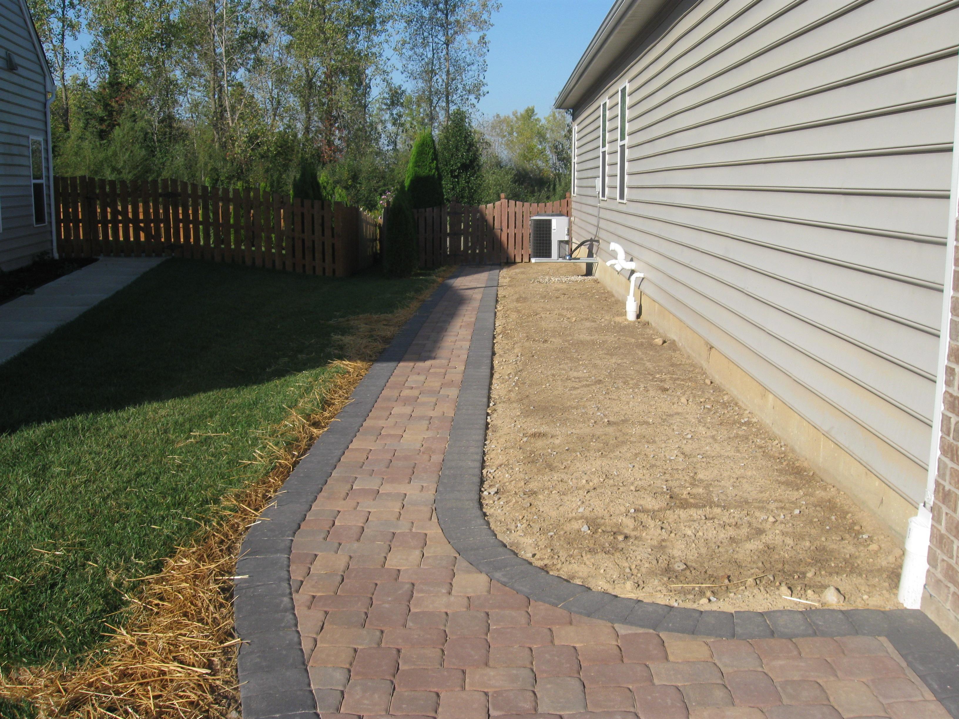 Stone paver pathway Dayton OH