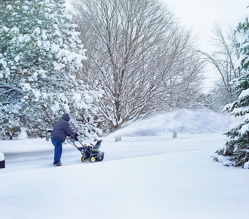 Snow removal in Dayton, Ohio