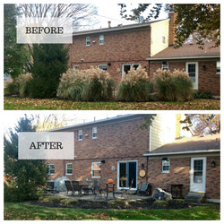 before & after fall clean up