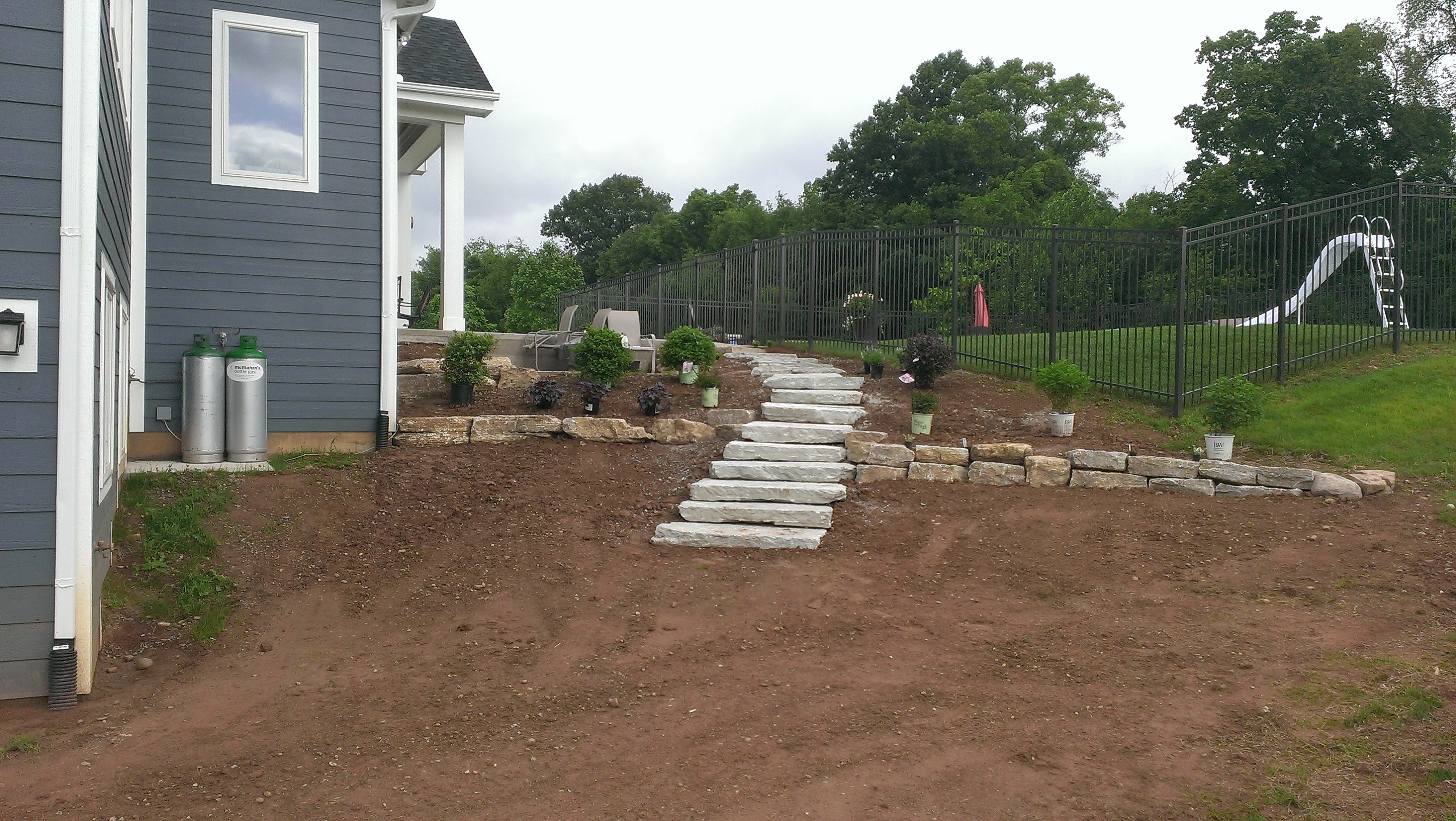 Landscaping in progress Dayton Ohio