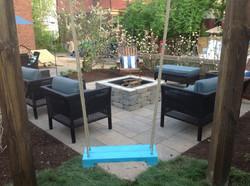 Fire pit and paver patio near Dayton, Ohio_