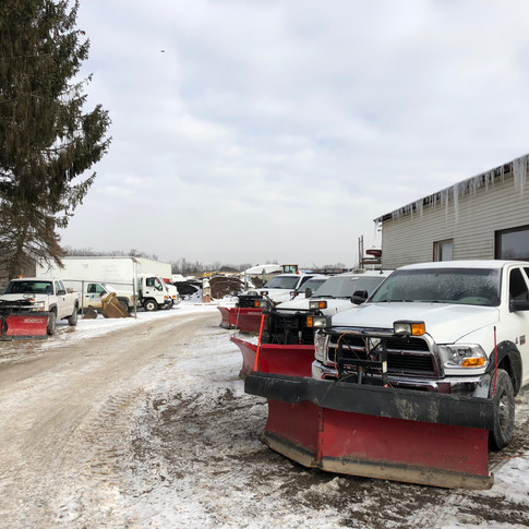 Snow plows for snow removal service in Dayton, Ohio