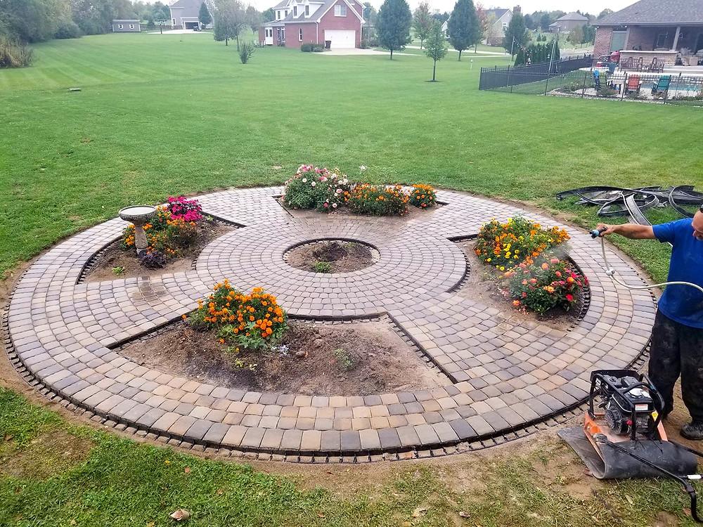 stone paver circle